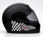 Nordschleife Chequered Flag Decal Set on Helmet right side