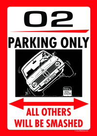 US-style parking sign