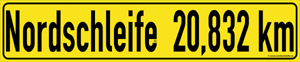 Nordschleife road sign