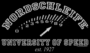 "T-shirt print ""NORDSCHLEIFE® UNIVERSITY OF SPEED est. 1927"""